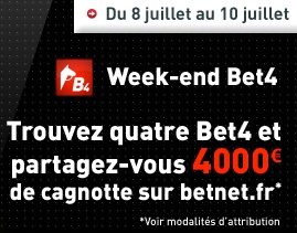 Weekend du Bet4 sur Betnet